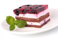 Stock Photo of delicious  cake piece
