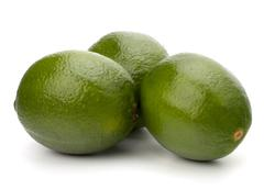Lime isolated on white background Stock Photos