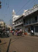 Rickshaw drivers carry local passengers Stock Photos
