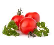 small cherry tomato and parsley spice - stock photo