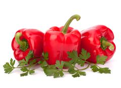 Stock Photo of red pepper isolated on white background