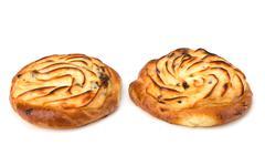 delicious sweet cream buns - stock photo