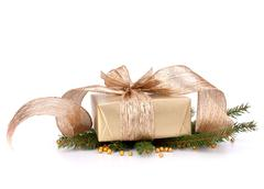 Stock Photo of luxurious gift isolated on white background