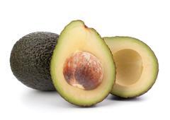 Avocado vegetable isolated on white background Stock Photos
