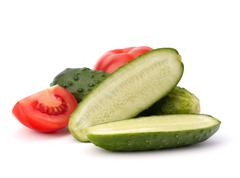 cucumber vegetable - stock photo