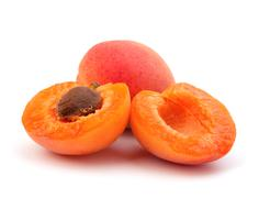 Ripe apricot fruit Stock Photos