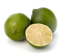 lime isolated on white background - stock photo