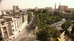High angle view residential buildings with mosque detail. Four shots. Stock Footage