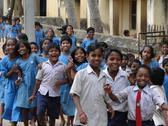 Curious indian school children Stock Photos