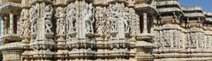 Apsaras, dancing girls and jain saints Stock Photos