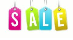 Sale Tags Stock Footage