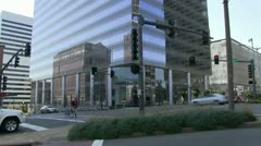 Bicycle in the city Stock Footage
