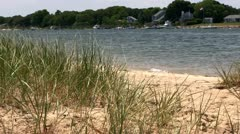 Waterfront homes from Washburn island Stock Footage