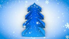 christmas tree paper curl snow 02 - stock footage