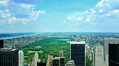 Central Park in NYC - stock footage
