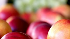 Nectarines and grapes Stock Footage