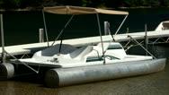 Docked paddleboat Stock Footage