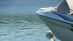 Boat tied to buoy Stock Footage