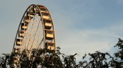 Stock Video Footage of Ferris Wheel at Sunset