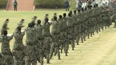 Soldiers Parade - stock footage