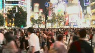 Stock Video Footage of Shibuya Crossing