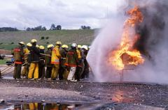 Fire Fighter Training Stock Photos