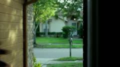 Zombie at front door Stock Footage