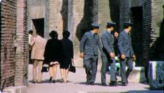 Carabinieri Police Italy ROME COLISEUM 1970 (Vintage Retro Film Home Movie) 4375 - stock footage