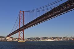 Lisbon,  25th april bridge Stock Photos