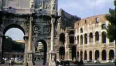 Arch of Constantine ROME COLISEUM Italy 1970s Vintage Retro Film Home Movie 4377 - stock footage