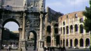 Stock Video Footage of Arch of Constantine ROME COLISEUM Italy 1970s Vintage Retro Film Home Movie 4377