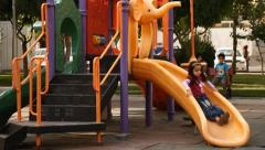 Playground in Tehran. - stock footage