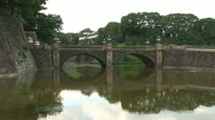 Imperial Palace and bridge Stock Footage