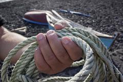 fisherman's rope - stock photo