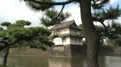Imperial Palace behind a tree Stock Footage