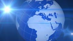 Blue Globe Transition - stock footage