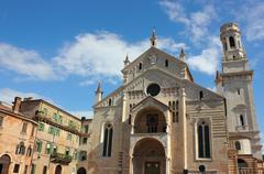 Verona cathedral Stock Photos