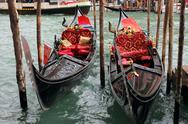 Venetian gondolas Stock Photos