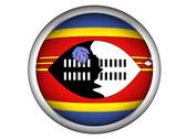 Stock Photo of national flag of swaziland . button style .
