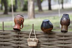 ukrainian ethnic hand-made articles - stock photo