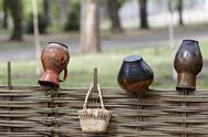 Ukrainian ethnic hand-made articles Stock Photos