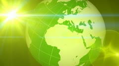 Green Globe Transition Stock Footage