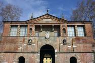 Lucca porta san pietro Stock Photos