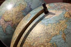 vintage globes - stock photo