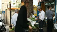 Food shopping in Tehran. Stock Footage