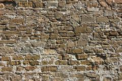 Ancient stone wall background Stock Photos