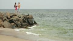 Coast in the Berdiansk Stock Footage
