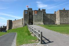 Dover castle in kent county Stock Photos
