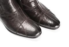 male shoes closeup - stock photo