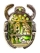 Scarab with gems Stock Photos